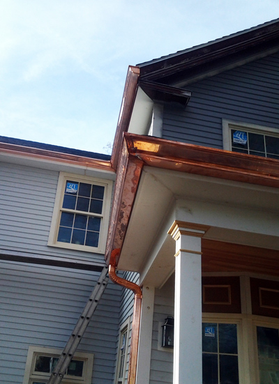Custom Copper Gutters And Downspouts Worcester Boston Ma Ct Ri Nh
